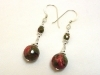 Sterling Silver Faceted Unakite Dangle Earrings