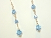Austrian Aquamarine Crystal Sterling Silver Wedding Earrings