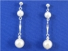 Creamy White Mother of Pearl Sterling Silver Dangle Earrings