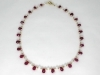 Faceted Ruby Briolette Gold Filled Necklace